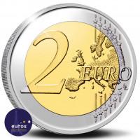 Revers de la pièce de 2 euros commémorative BELGIQUE 2021 - 100 ans de l'Union économique belgo-luxembourgeoise (UEBL) - BU