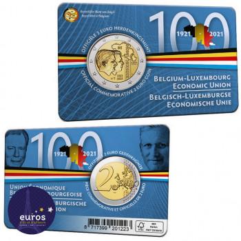 Coincard FL 2 euros BELGIQUE 2021 - Version Flamande - Union économique belgo-luxembourgeoise (UEBL) - BU