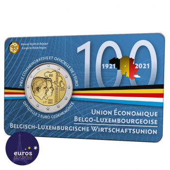 Coincard 2 euros BELGIQUE 2021 - Version Française - Union économique belgo-luxembourgeoise (UEBL) - BU