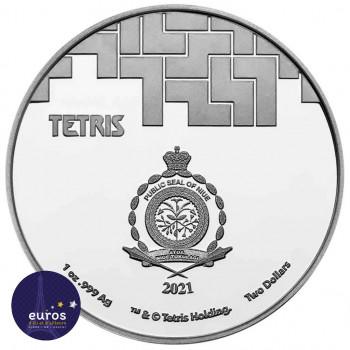 Revers NIUE 2021 - 2$ NZD TETRIS™ - 1oz argent - Bullion Coins