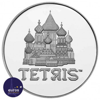 Tube 20 x NIUE 2021 - 2$ NZD TETRIS™ - 1oz argent - Bullion Coins