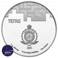 Revers NIUE 2021 - 2$ NZD TETRIS™ Couleur - 1oz argent