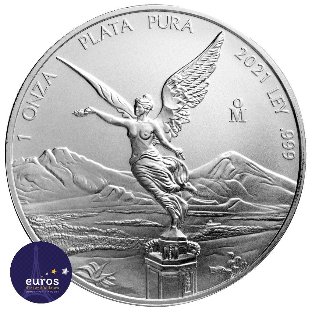 MEXIQUE 2021 - Libertad - 1 Oz argent - Bullion