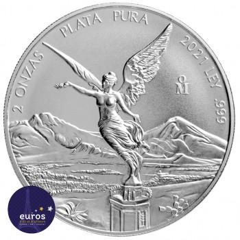 MEXIQUE 2021 - Libertad - 2 Oz argent - Bullion