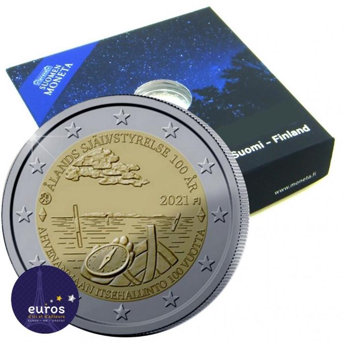 Pièce de 2 euros commémorative FINLANDE 2021 - 100 ans de la Loi d'autonomie d'Aland - Belle Epreuve