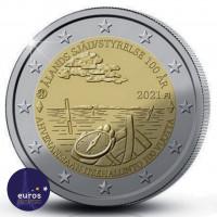 Pièce de 2 euros commémorative FINLANDE 2021 - 100 ans de la Loi d'autonomie d'Aland
