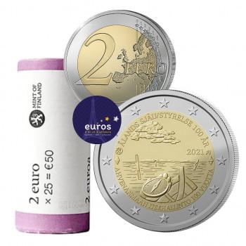 Rouleau 2 euros commémoratives FINLANDE 2021 - 100 ans de la Loi d'Autonomie d'Aland - UNC