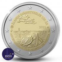 Avers de la Pièce de 2 euros commémorative FINLANDE 2021 - 100 ans loi autonomie Aland