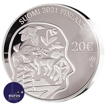 Revers de la pièce de 20 euros Finlande 2021 - 100 ans de la Loi d'autonomie d'Aland - Argent 925‰