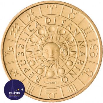 Avers de la pièce de 5 euros commémorative SAINT MARIN 2021 - Horoscope - Capricorne