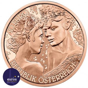 Revers de la pièce en cuivre de 10 euros commémorative AUTRICHE 2021 - Langage des Fleurs, La Rose