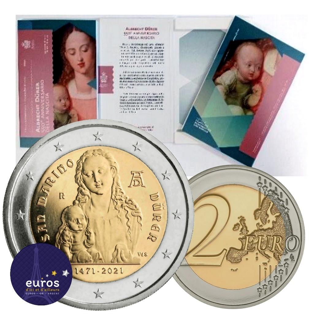 2 euros commémorative SAINT MARIN 2021 - Naissance d'Albrecht Dürer - BU