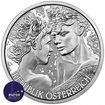Revers de la pièce de 10 euros commémorative AUTRICHE 2021 - Langage des Fleurs : Rose (1/7) - Argent BU 925‰