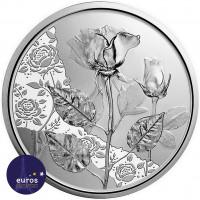 Avers de la pièce de 10 euros commémorative AUTRICHE 2021 - Langage des Fleurs : Rose (1/7) - Argent BU 925‰