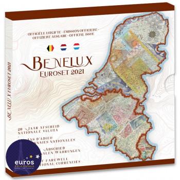 Set BU BENELUX 2021 - 20 ans d'adieu aux monnaies nationales du Benelux - Brillant Universel