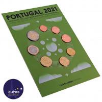 Set FDC PORTUGAL 2021 - Série 1 cent à 2 euros - Fleur de coin