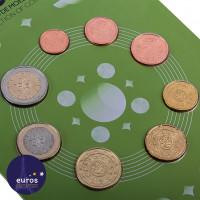 Avers série Portugal 20218 pièces 1 cent à 2 euros