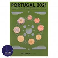 Set PORTUGAL 2021 - Série 1 cent à 2 euros - Fleur de coin