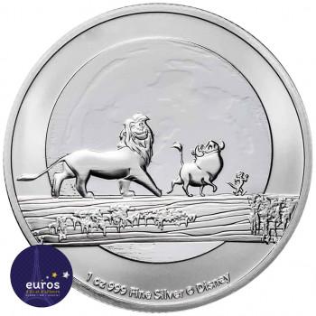 Avers de la pièce NIUE 2021 - 2$ NZD Le Roi Lion™ - Hakuna Matata - 1oz argent - Disney™