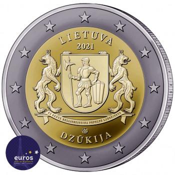 Pièce 2 euros commémorative LITUANIE 2021 - Dzūkija - Régions Ethnographiques Lituaniennes - Brillant Universel