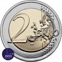 Revers de la pièce de 2 euros commémorative ESTONIE 2021 - Le Loup, Animal National - UNC