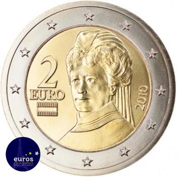 Avers de la pièce de 2 euros annuelle AUTRICHE 2021 - Effigie de Bertha von Suttner - Brillant Universel