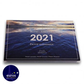 Coffret FINLANDE 2021 Belle Épreuve - Série 1 cent à 2€ + 2 x 2€ commémoratives