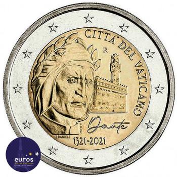 2 euros commémorative VATICAN 2021 - Dante Alighieri - Brillant Universel