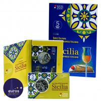 Coincard 5 euros commémorative ITALIE 2021 - Gastronomie Italienne - Cannolo et Passito