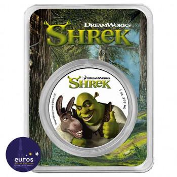 Avers Coincard NIUE 2021 - 2$ NZD - Shrek™ - 1oz argent - Bullion Coin colorisé
