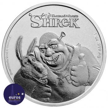 Avers de la pièce NIUE 2021 - 2 dollar NZD - Shrek™ - 1oz argent - Premium Bullion Coin