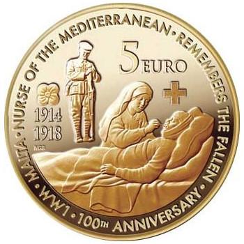 5 euros MALTE 2014 - Anniversaire Guerre Mondiale