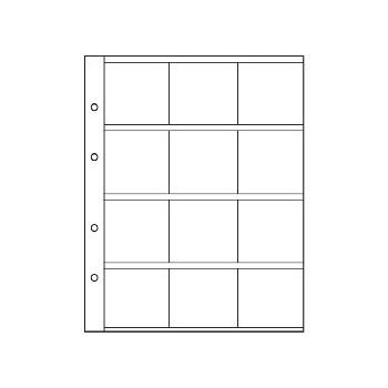 Feuilles NUMIS K50 pour 12 cadres cartonnés - 310444 - LEUCHTTURM