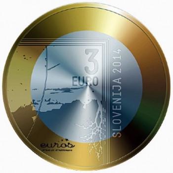 3 euros Slovénie 2014 -...