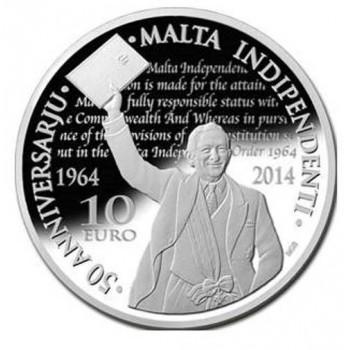 """10€ Malte 2014 """"Indépendance"""""""