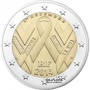 2 euros FRANCE 2014 - Journée Mondiale de la Lutte Contre le Sida