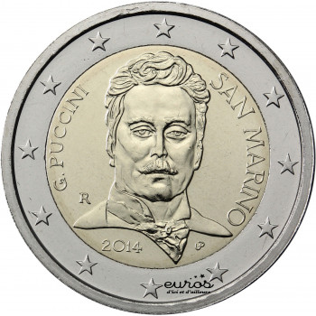 "2 euros Saint Marin 2014""Giacomo Puccini"""
