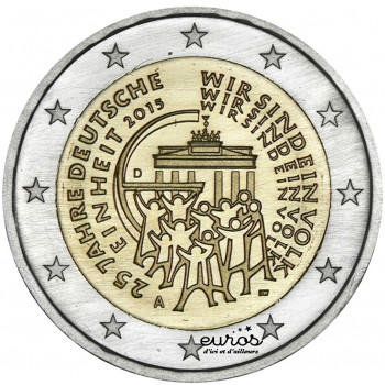 2 euros commémorative ALLEMAGNE 2015 - 25ème anniversaire de la Réunification Allemande