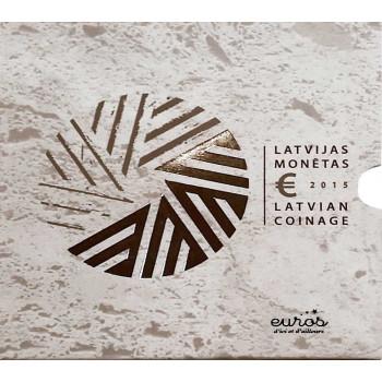 Set BU Lettonie 2015 - Série 1 cent à 2 euros