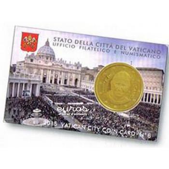 Coincard 50 cts Vatican 2015 n°6