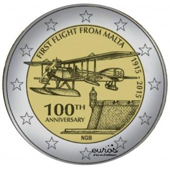 2 euros commémorative MALTE 2015 - 1er vol commercial de Malte
