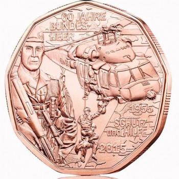 """5 euros Autriche 2015 """"Force Armée Autrichienne"""""""