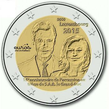 """2 euros LUXEMBOURG 2015 """"Accession au trone du Duc Henri"""""""