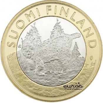 "5 euros Finlande 2015 ""Province de Tavastia"" - Le Lynx"