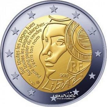 """2 euros France 2015  - République - """"225 ans de la fête de la Féderation"""""""