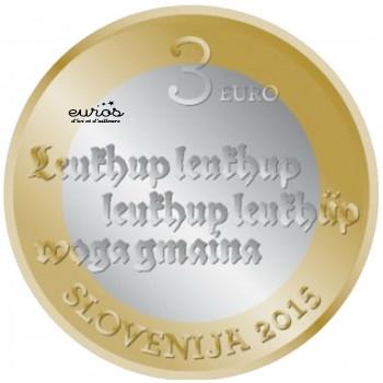 3 euros Slovénie 2015 - 500ème Anniversaire du 1er Texte Imprimé en Slovène (1515
