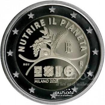 2 euros  commémorative ITALIE 2015 - Exposition Universelle de Milan