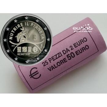 Rouleau 2 euros commémorative ITALIE 2015 - Exposition Universelle de Milan