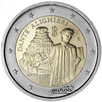 2 euros commémorative ITALIE 2015 - 750ième anniversaire de Dante Alighieri