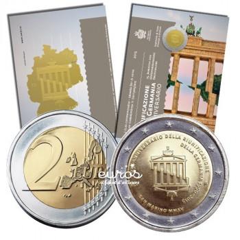 2 euros commémorative Saint Marin 2015 - 25ième anniversaire de la Réunification Allemande